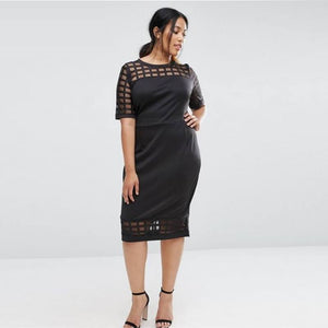 Cage Mesh Stretchy Dresses