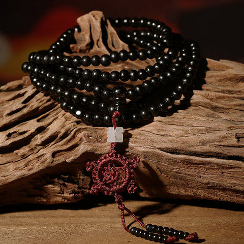 Natural Sandalwood Beads Meditation Prayer Bracelet