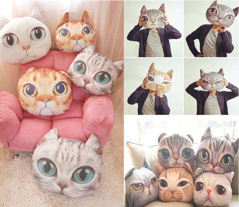 Cat Head Pillows
