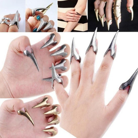 5 Piece Talon Nail Fingertip Rings