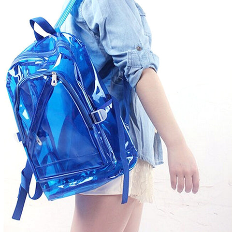 Transparent Clear Plastic Waterproof Backpack