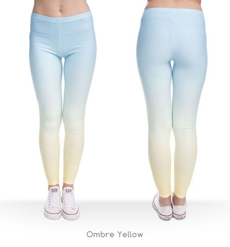 Blue/Green/Yellow Ombre Legging