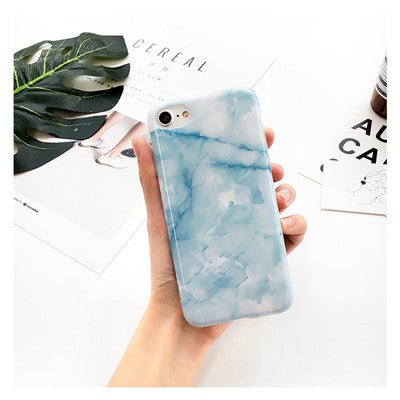 One Toned Marble Pattern iPhone Case