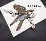 1 Pair/2 Piece Birdies Embroidered Iron-on Patches