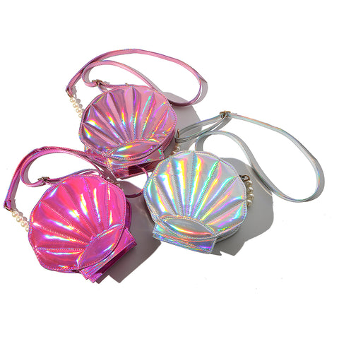 Crossbody Holographic Clamshell Bag