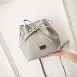 Drawstring Bow Bucket Bag