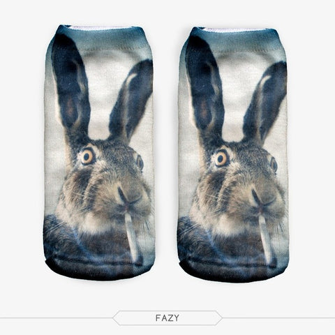 Smoking Rabbit Ankle Socks