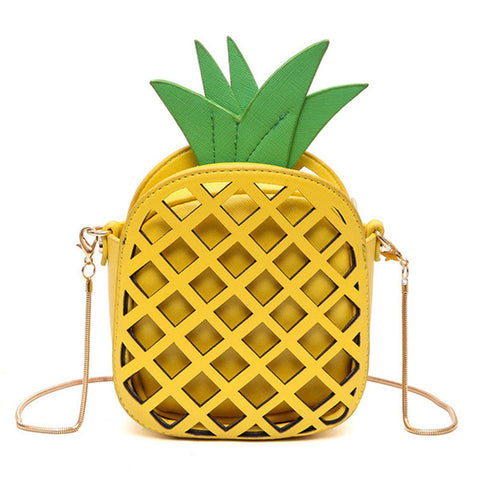 Cutout Pineapple Crossbody Handbag