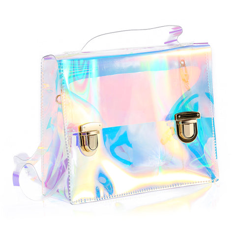 Transparent Hologram Shoulder Bag