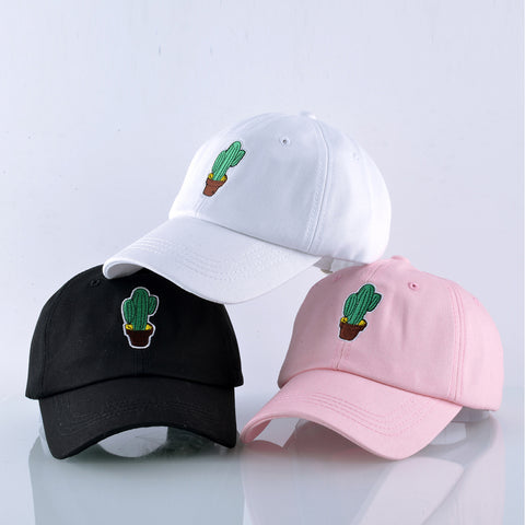 Cactus Embroidered Trucker Baseball Hat