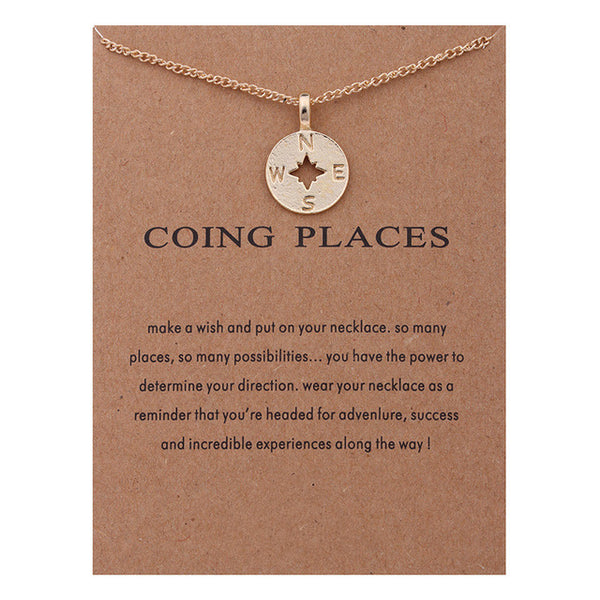 "Make-a-Wish ""Going Places"" Pendant Short Necklace"