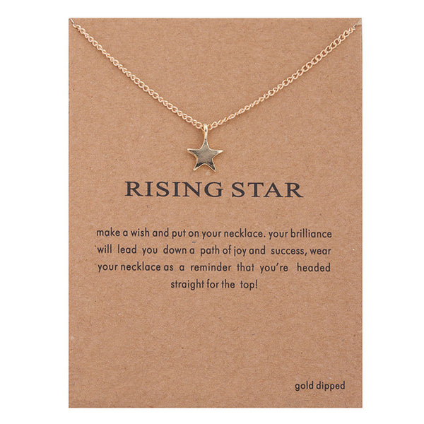 "Make-a-Wish ""Rising Star"" Pendant Short Necklace"