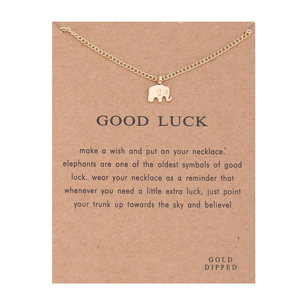 "Make-a-Wish ""Good Luck"" Pendant Short Necklace"