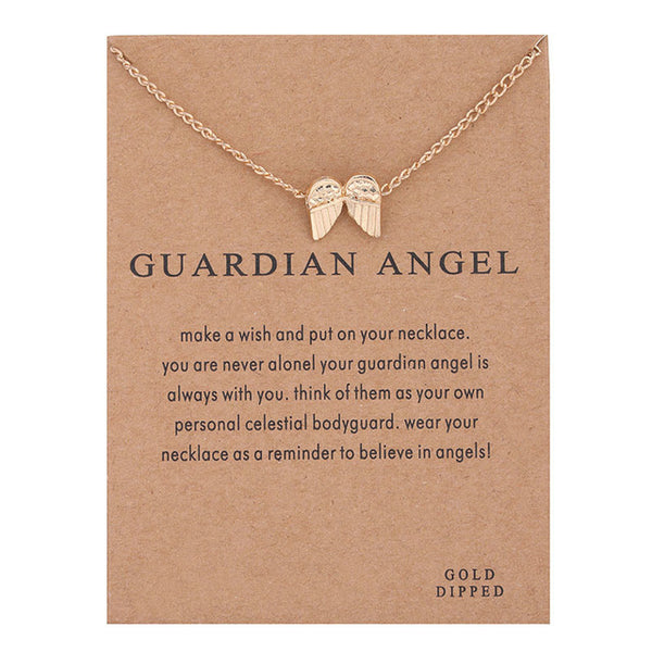 "Make-a-Wish ""Guardian Angel"" Wings Pendant Short Necklace"