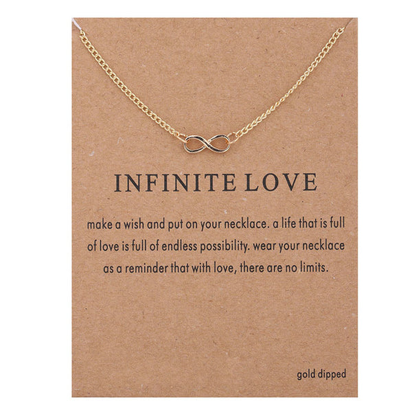 "Make-a-Wish ""Infinite Love"" Pendant Short Necklace"