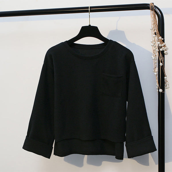 Streetwear Pocket Long Sleeve Top