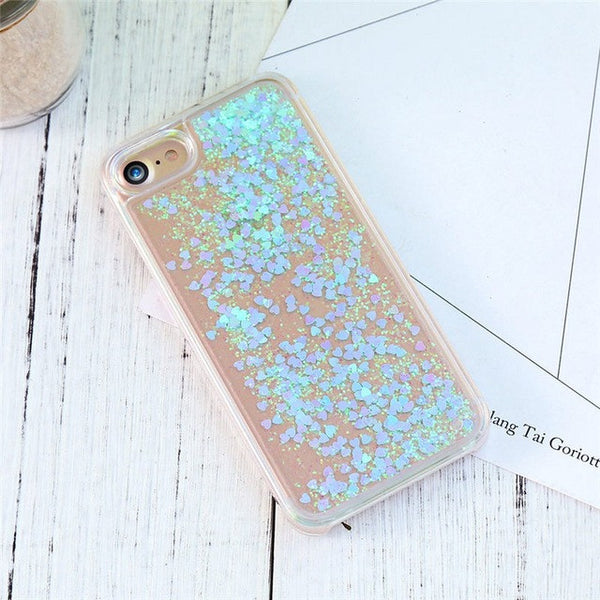 """Everything is Better"" with Glitter Quicksand Transparent iPhone Case"