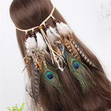 Cowboy Feather Coachella Headband