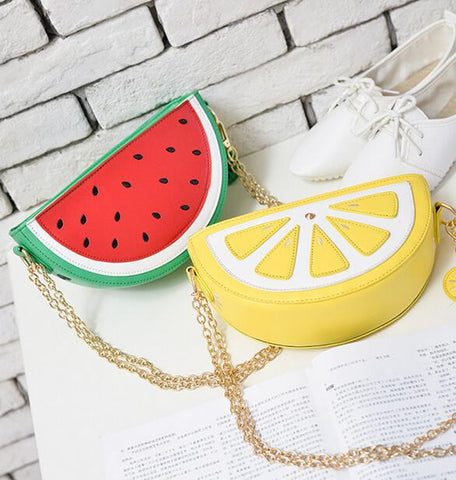 Watermelon & Lemon Crossbody Shoulder Bag