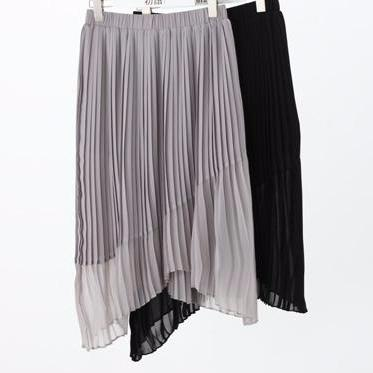 Asymmetrical Solid Pleated Chiffon Skirts