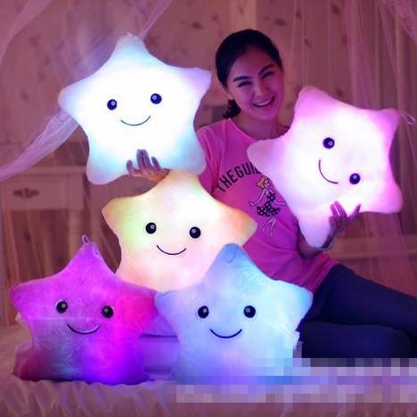 Night Light Star Pillows