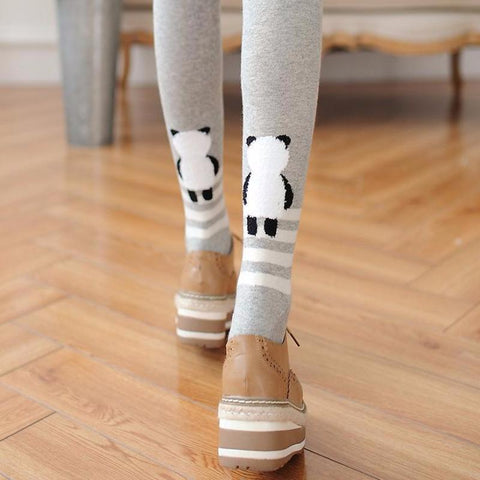 Cute Panda Thigh High Stockings