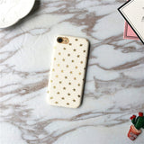 Ultra Thin Gold Stars Pattern iPhone Case