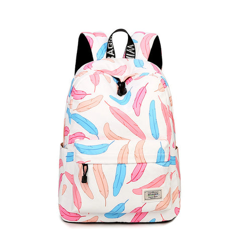 Colorful Feather Backpack