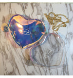 Transparent Heart Shape Shoulder Bag