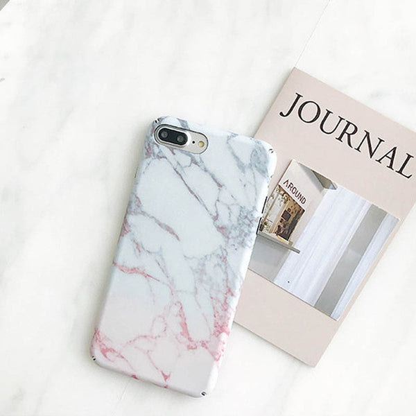 Coral Marble Stone iPhone Case