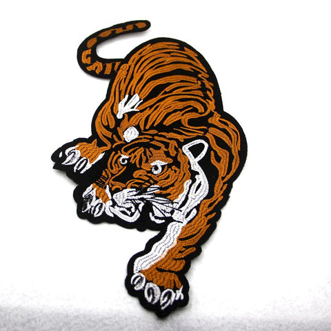 Large Tiger Embroidered Iron-on Patches