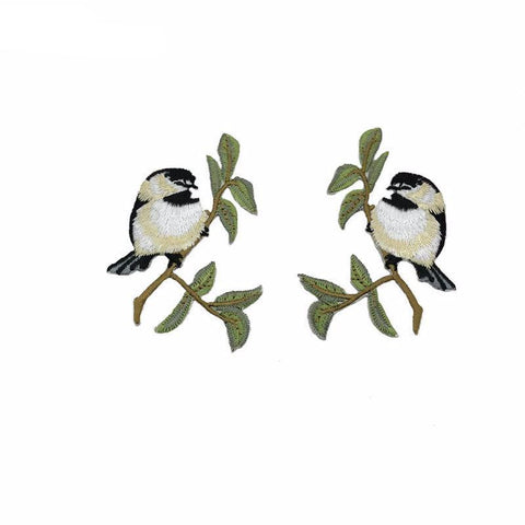 1 Pair/2 Piece Little Birdies Embroidered Iron-on Patches