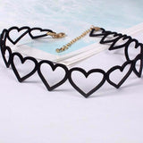 Hollow Out Heart Choker