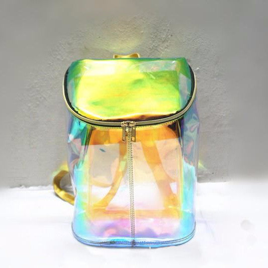 Transparent Candy Hologram Bucket Backpack