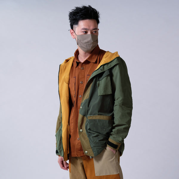 (JK225) Colorblock Two Face Jacket