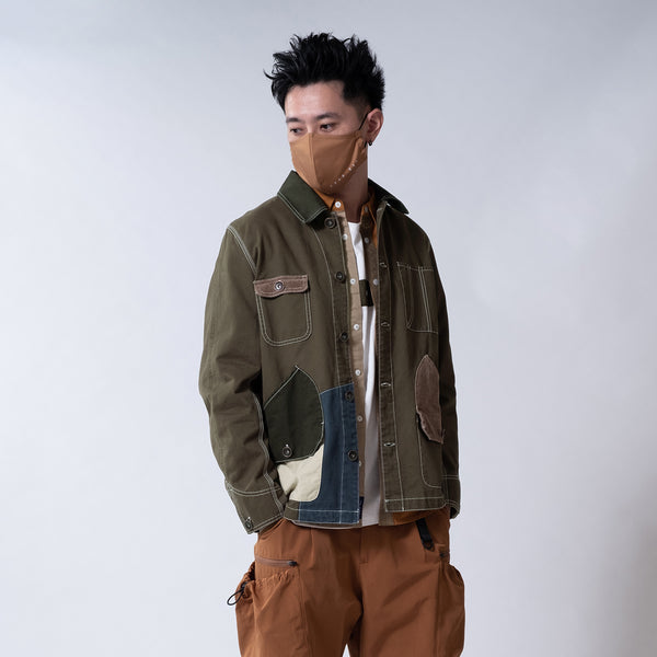 (JK216) Patchwork Railroad Jacket