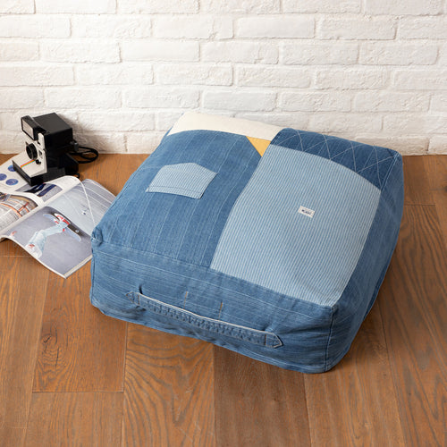 Denim Patchwork Blanket Chair (AA363)