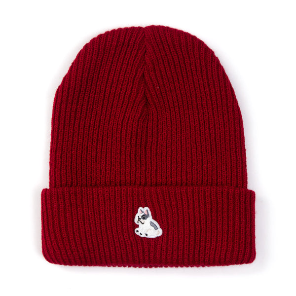 French Bulldog Patch Beanie (BN162)