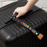 Make Your Own Message Luggage Tag - Rainbow Color (EMA002)