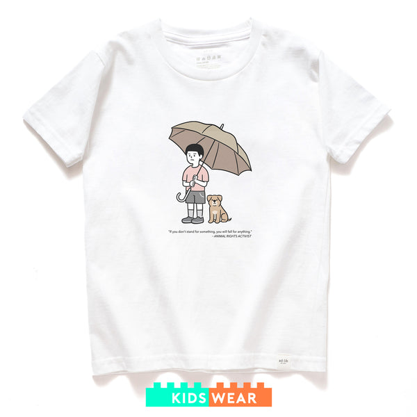 (ZT177) Kids Animal Rights Graphic Tee