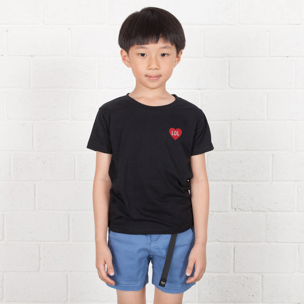 Kids Heart Box Embroidery Tee (EMT026)