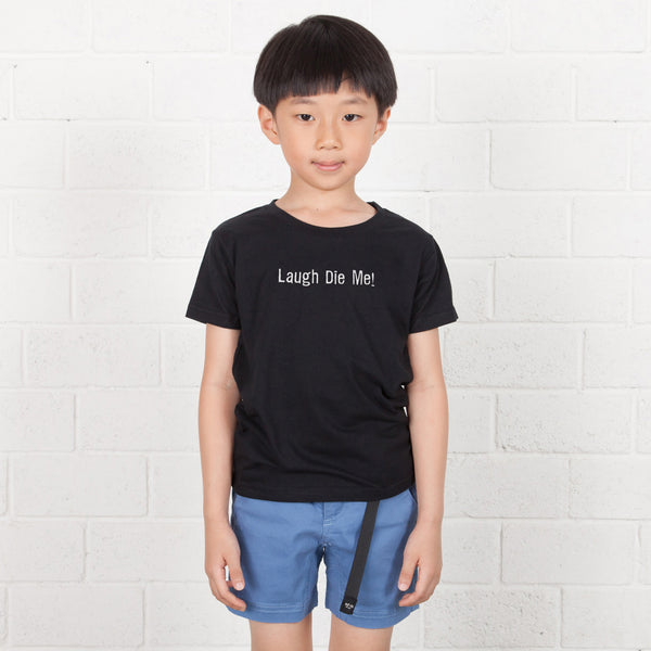Kids Long Text Embroidery Tee (EMT034)