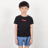 Kids Zig-zag Box Embroidery Tee (EMT042)