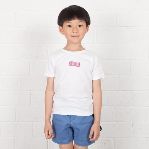 Kids Curve Box Embroidery Tee (EMT044)