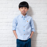 Kids Color Button Shirt (ST963)