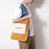 (TB228) Message Patch Tote Bag