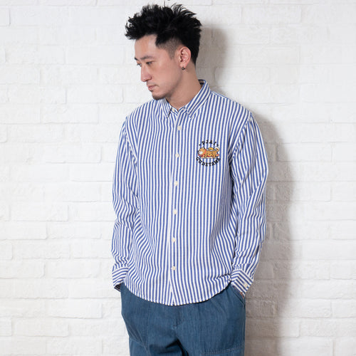 Stripe Embroidery Shirt (EX223)