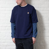 (TP200) Fake Layer Sleeve Tee