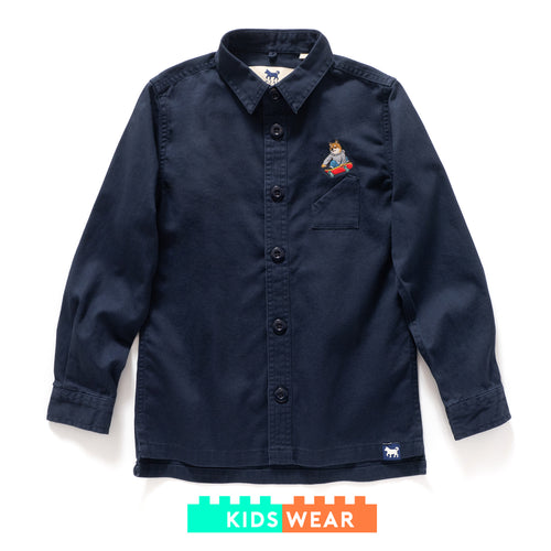 (ST031) Kids Graphic Embroidery Shirt Jacket