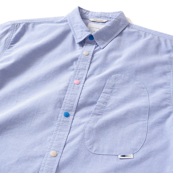 (ST056) Color Button Oxford Shirt